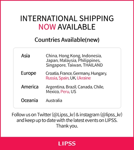 International shipping Open